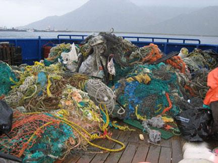 רשתות דייג ופסולת ימית - NOAA