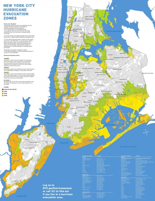New York City Hurricane Evacuation Zones Hurrican Irene