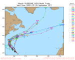 Hurricane Katia Model Tracks Valid Time 0000 UTC September 2011