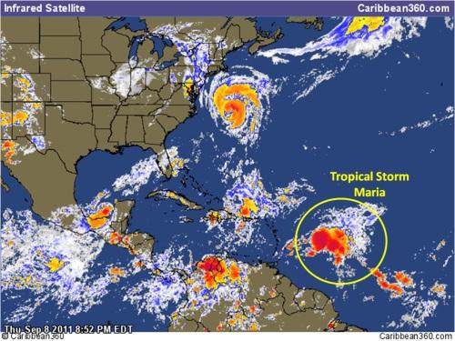 tropical storm maria sept 8 סערה טרופית מריה 2011