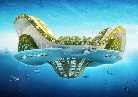 """הטכנולוגיה קיימת, המקום קיים.. מחקרים מראים כי נדל""""נית פרוייקטים אלו מוכיחים את עצמם. עלות, מקות, מחיר, תועלת. איזה השפעה תהייה על העיר חיפה אילו יעגנו מולה במפרץ כעשרה איים עירוניים שכאלו ???"""