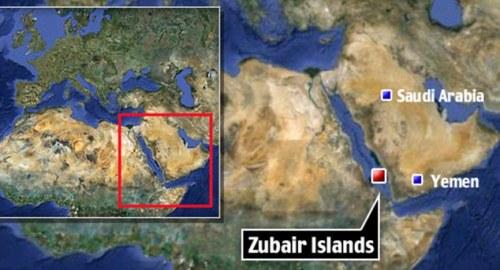 Red Sea map - מפה  של ים סוף וארכיפלג איי זוביר