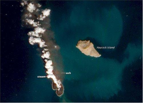 the birth of the new Zubair volcano