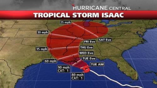 אלהבמה מיסיסיפי לואיזיאנה בתוך משפך ההתקדמות הצפוי של הוריקן אייזיק