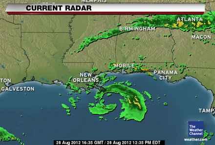Hurricane ISAAC - current Radar