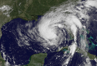 Forecasters say Isaac has strengthened into a Category 1 hurricane with 75 mph winds