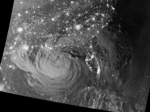 hurricane ISAAC under moonlight 29 8 2012