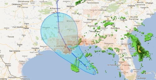 Prepare for Hurricane Isaac with Google Crisis Map