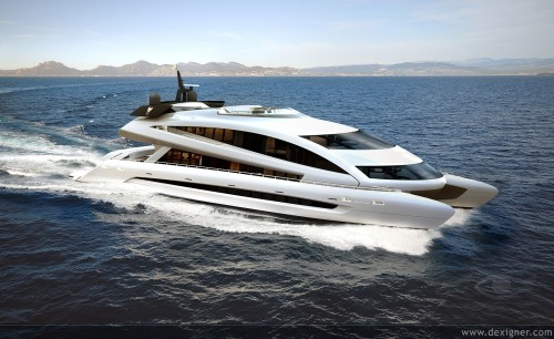 Royal Falcon Fleet RFF 135  Porsche Design Mega Yacht