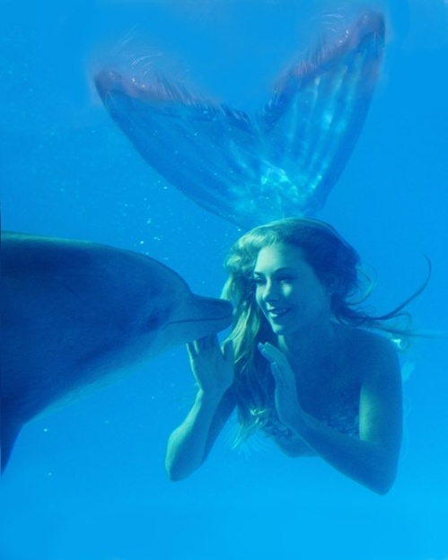 דולפין ובת ים