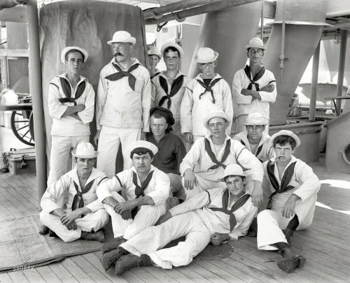 "1896 | U.S.S. New York . ""Group of sailors"" | Edward Hart"