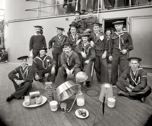 "1897 | ""Berth deck cooks, U.S.S. Oregon"" | Edward H. Hart"