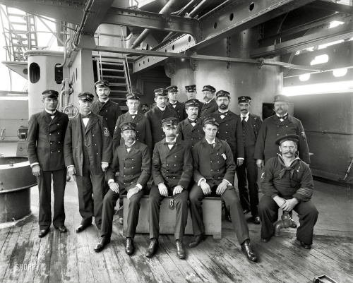 "1900 | ""U.S. Battleship Texas, chief petty officers"" | Edward H. Hart"