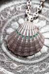 קולקציית רוח ים יפתח קוזיק - Iftach Kozik Ocean Spirit Collection Silver Emerald Scalop