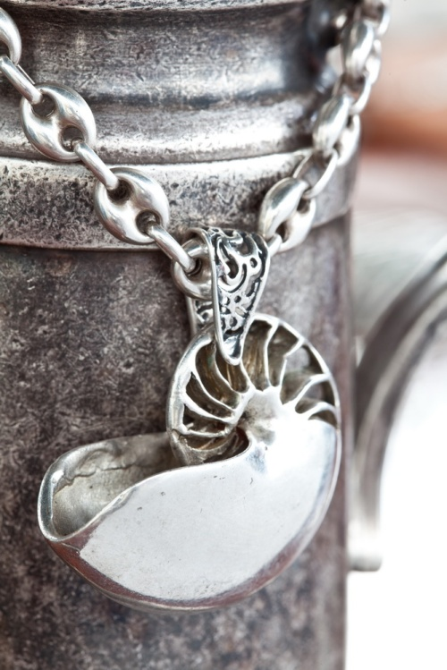 Ocean Spirit Collection  Silver Nautilus pendant