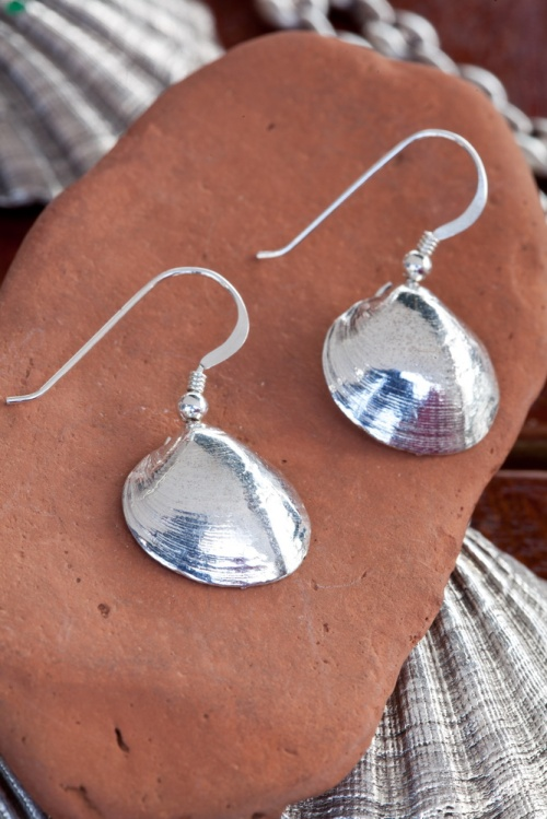 Ocean Spirit Collection silver shells  earrings