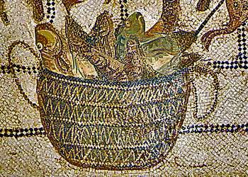 Basket of Fish for Garum Making