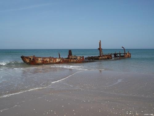 ספינת הדיג נץ טרופה על חוף הבונים