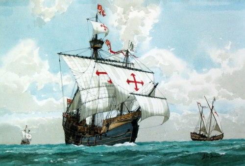 Christopher Columbus flag ship Santa Maria