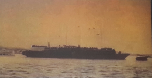 stroma ship in istanbul harbour january 1942 - הספינה סטרומה בנמל איסטנבול תורכיה ינואר 1942