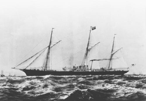 הספינה קסנטה (SS Xantha) בראשית דרכה לימים ולאחר שמות רבים הוענק לספינה שמה האחרון סטרומה