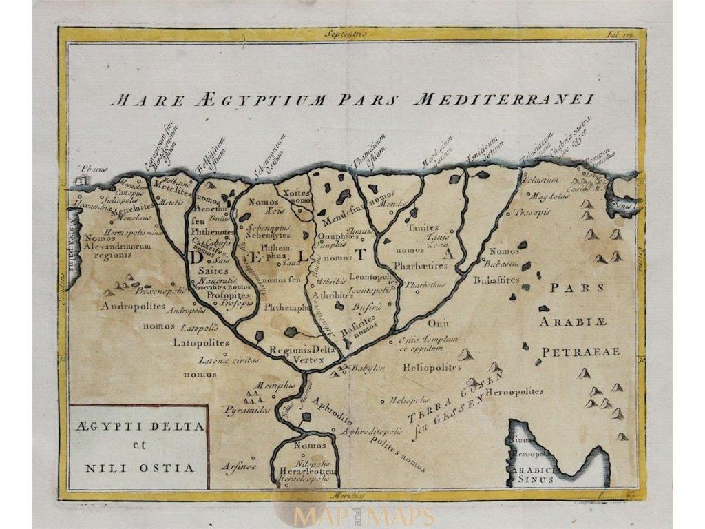 מפת הדלתה של הנילוס 1731